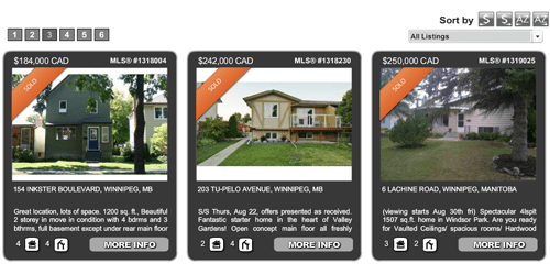 showcase sold listings