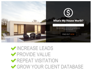 generate tons of leads from a real estate website for agents.