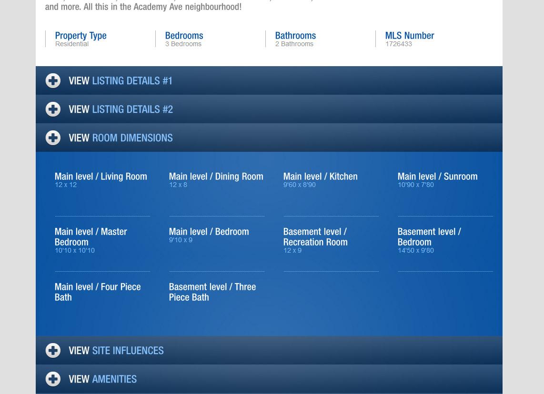 property website listing details template