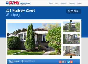 single page property website for real esgtate agents and brokers