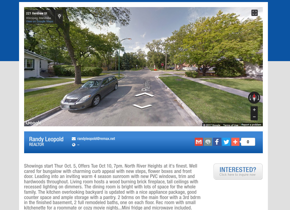 real estate property site with street view template