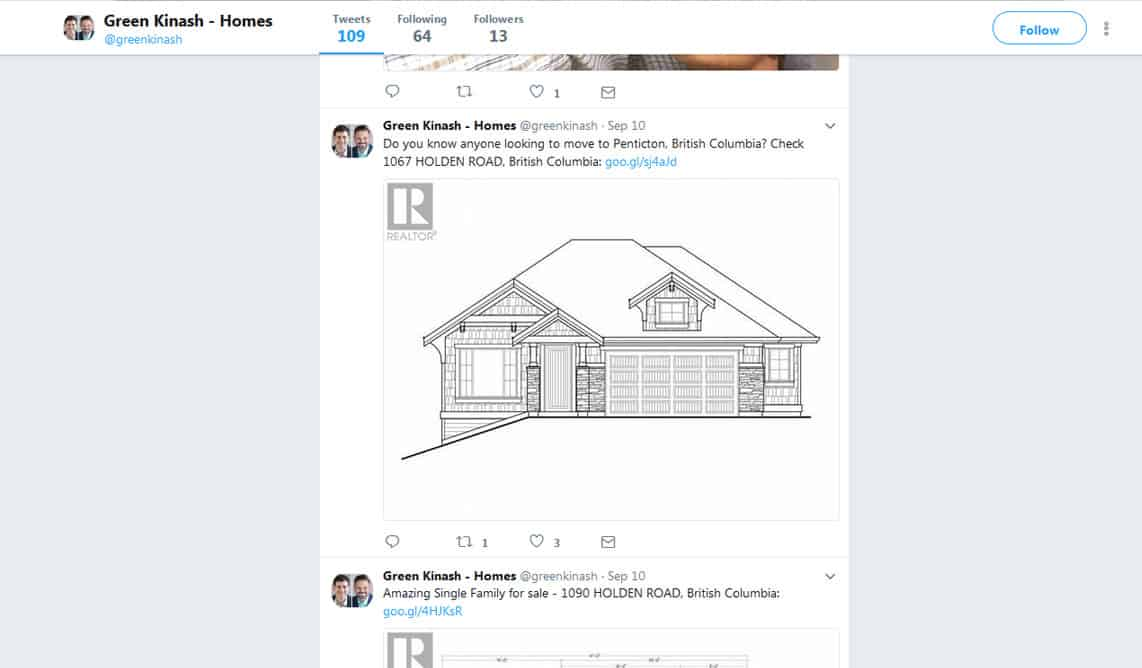Twitter syndication for real estate agents