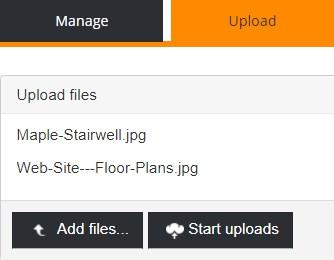 start upload